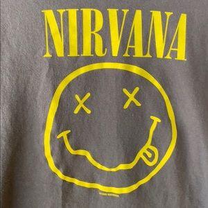 Nirvana Graphic Band Tee Smiley
